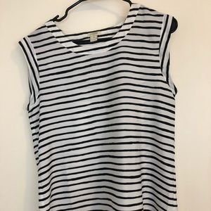J. Crew sleeveless blouse